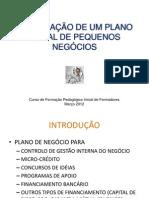 ELABORAÇÃO DE UM PLANO INICIAL DE PEQUENOS NEGÓCIOS