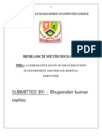 A Comparative Study of Job Satisfaction Bhupnder
