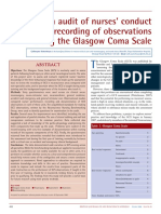 An Audit of Nurses' Conduct and Recording of Observations Using the Glasgow Coma Scale