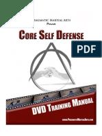 Core Self Defense DVD Training Manual