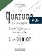 Cuarteto en A Menor Op. 50 Para Viola, Cello y Piano de Beriot