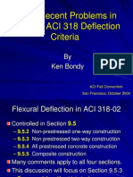 Deflectionproblems in ACI-318