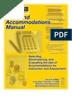 Maryland Accommodations Manual 200802 02-15-2008