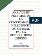 Analyse et Prévision de la Consommation d'Electricité au Sénégal par la Méthode BOX&JENKINS