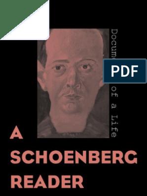 A Schoenberg Reader0300095406 Chamber Music Classical Music