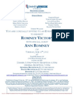 Evening Reception for Romney Victory Inc.