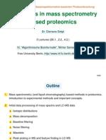 Algorithms in Mass Spectrometry