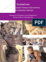 Guidelines for Gender-Based Violence Interventions