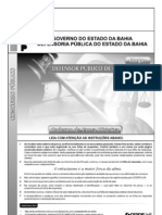 Prova do concurso para defensor público do Estado da Bahia