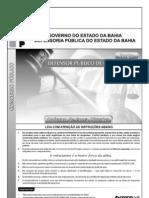 Prova do concurso para defensor público do Estado da Bahia