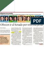 11-06-12 Ofrecen Ir Al Senado Por Reforma Penal