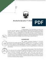 Resolucion Ejecutiva 226 2010 ITP De