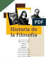 Historia de la filosofía - Trabajo no 1