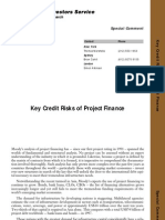 Key Credit Risks of Project Finance