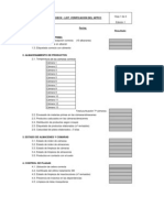 Modelo Check List verificación del APPCC