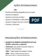 Org. Internacionais