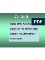 Role of Administrator