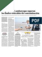 Chiclayo tiene playas contaminadas