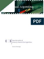 """Apuntes sobre el (nuevo) """"Nuevo Cine Argentino"""""""
