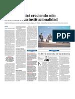 Peru necesita fortalecer su institucionalidad