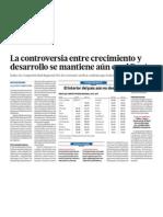 Controversia entre crecimiento y desarrollo Peru