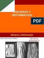 Deformacion y Esfuerzo