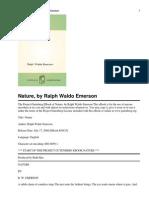 Nature-Ralph Waldo Emerson