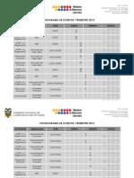 Cronograma Itrimestre 2012 Final)