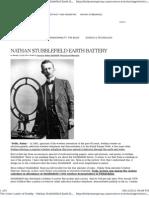 Nathan Stubblefield Earth Battery