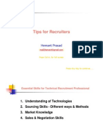 Tips for Recruiters 170