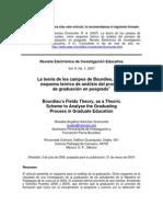 Teoria de Los Campos, Bourdieu