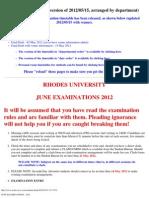 June Examinations - 2012