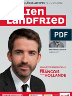 Affiche de campagne de Julien Landfried (2nd tour)