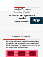 Cognitive Psychology-Bloom, Piaget & Vygotsky - Constructivi
