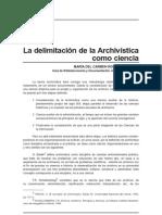Delimitacion de La Archivistica Como Ciencia