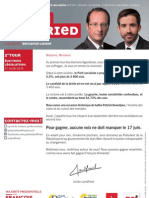 Tract de mobilisation de Julien Landfried pour le second tour