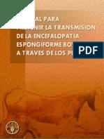 Manual prevención de la transmisión de la EEB