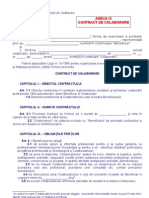 Anexa 9 Contractul de Colaborare