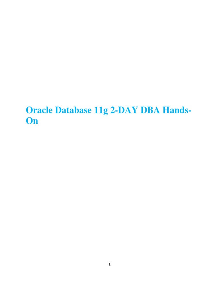 Oracle 11g 2 day dba hands on oracle database installation oracle 11g 2 day dba hands on oracle database installation computer programs baditri Choice Image