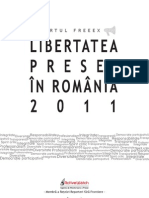 2012_Raportul FreeEx - Libertatea Presei in Romania 2011