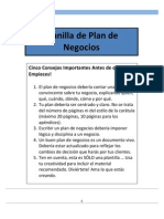 Planilla de Plan de Negocio