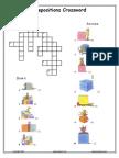 Prepositions Crossword