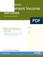 Fidelity Advisor Retirement Income Services Worksheet