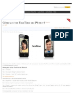 Cómo activar FaceTime en iPhone 4 OK
