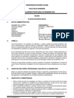 Topografia I-silabo Plan de Estudios 2006 II-ciclo 2011 II