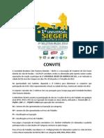 Convite Universal Sieger Dias 29, 30 e 01-07-2012