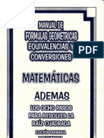 34130449 Manual de Formulas Geometricas Equivalencias y Conversiones