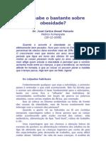 Você Sabe o Bastante Sobre Obesidade - Dr José Carlos Brasil Peixoto, Homeopata