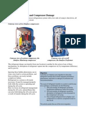 Compressir Lubrication Theory Danfoss | Gas Compressor