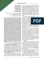 Finantele Publice Si Responsabilitatea Bugetar Fiscala Comentarii Asupra Proiectului de Lege